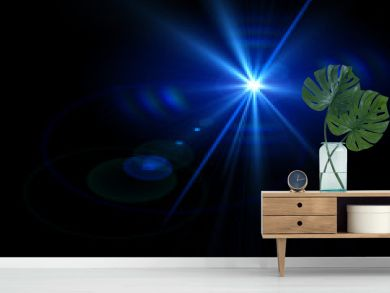 Abstract lights over black backgrounds for your design