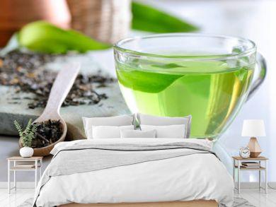 Green spa tea