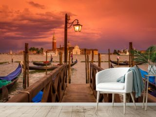 Sunset in San Marco square, Venice. Italy