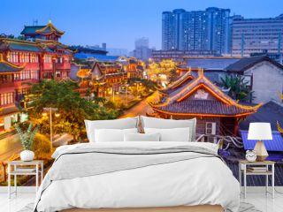 Chengdu, China Historic District at Qintai Road