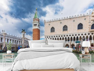 Piazza San Marco, Grand Canal, Doge's Palace in Venice, Italy