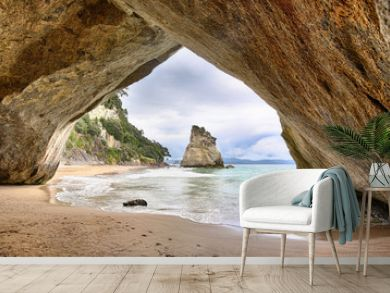 Beach at Cathedral Cove, Coromandel Peninsula - New Zealand