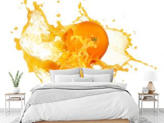 orange juice splashing