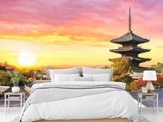 Sonnenuntergang in Kyoto Japan