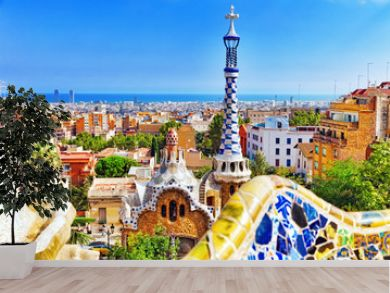 Gorgeous and amazing Park Guel in Barcelona.