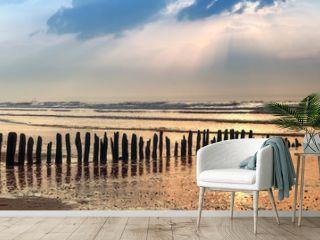 Bunen Panorama am Strand