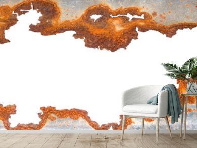 Rusty galvanized iron texture isolated