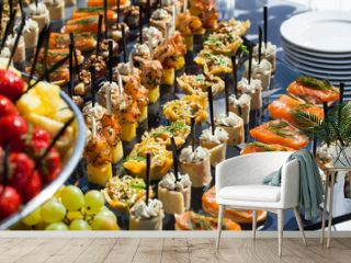 Sandwiches on a table the buffet