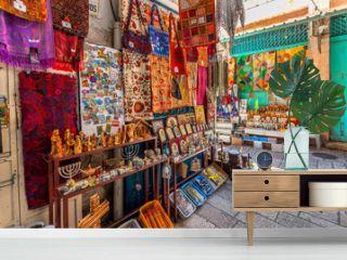 Bazaar in Old City of Jerusalem.