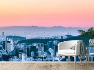 Seoul Panorama im Winter