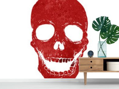retro cartoon spooky skull