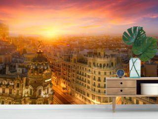 Madrid, sunset
