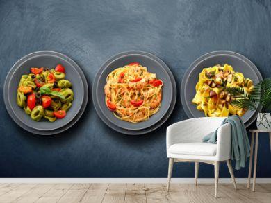 tris di pasta italiana