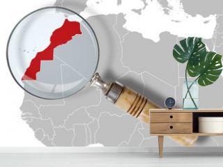 Cartina del Marocco sotto la lente - Morocco