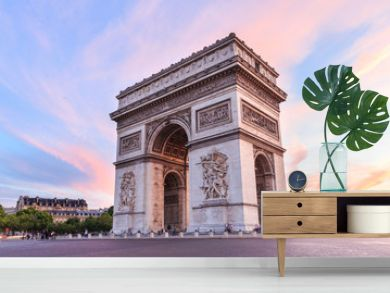 Champs-Elysees at sunset in Paris