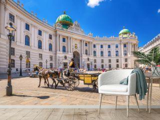 Fiaker vor der Alten Hofburg, Wien, Österreich
