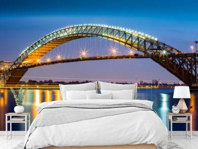 Bayonne Bridge, New Jersey at dusk