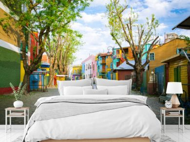 """Buenos Aires: """"Caminito"""" street and his famous painted houses in the neighborhood of La Boca."""