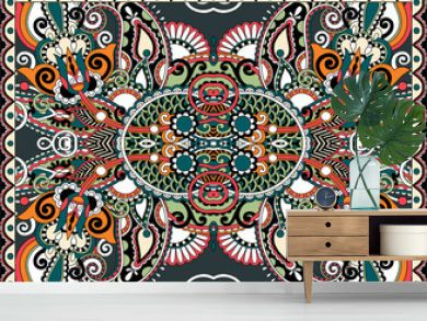 ethnic horizontal authentic decorative paisley pattern for your