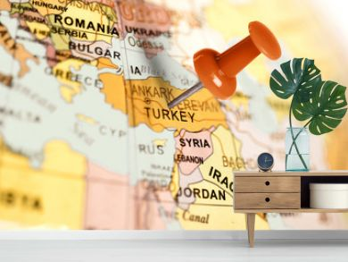 Location Turkey. Red pin on the map.