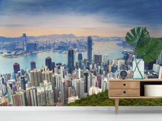 Hong Kong. Image of Hong Kong skyline view from Victoria Peak.