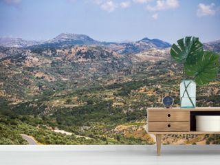 Crete, mediterranean mountain landscape
