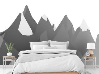 Mountain abstract rendered on white background