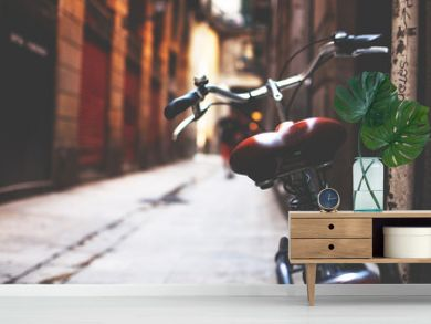 Bike in the streets of Barcelona