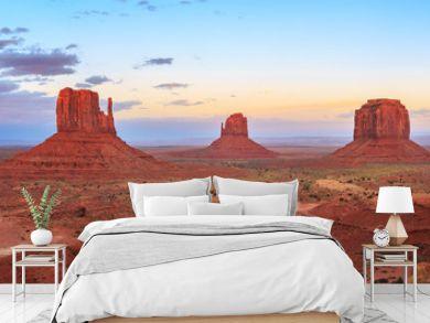 Sunset at Monument Valley Navajo Tribal Park in Arizona, Utah, USA