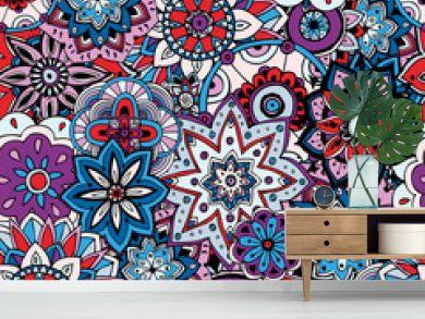 Seamless pattern texture. Indian, arabic, turkish style elements