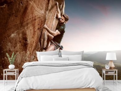 Climber on a cliff
