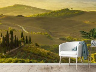 beautiful morning in Tuscany