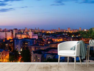 Podol district panorama view in Kiev