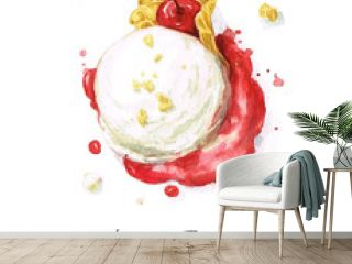 Watercolor Food Painting - Ice Cream