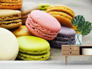 Macarons en vrac de couleur