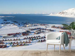 Panoramic views of Longyearbyen, Spitsbergen (Svalbard)