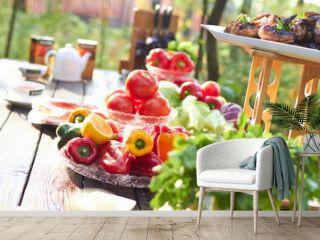 picnic summer vegetables