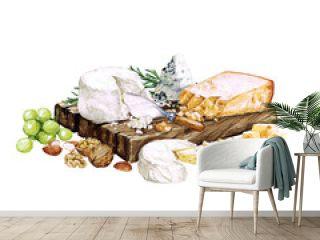Watercolor Food - Cheese Board
