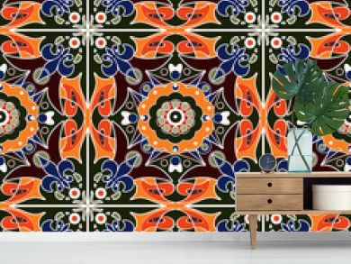 Seamless beautiful antique pattern ornament. Geometric backgroun