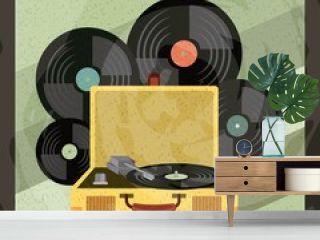 music vintage old popart