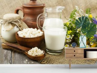 Dairy products and flowers