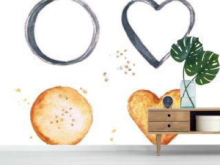 Watercolor Food Clipart - Cookies and Cookie cutters