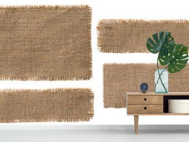 Burlap Fabric Label Pieces, Rustic Hessian Patch Torn Sack Cloth
