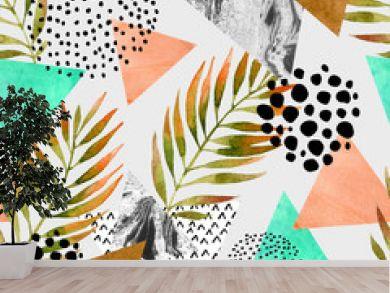 Abstract summer geometric seamless pattern