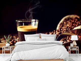 espresso and coffee grain