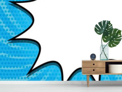 Bubble icon. Retro pop art comic and communication theme. Colorful design. Striped background. Vector illustration