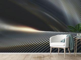 Abstract Metal Chrome