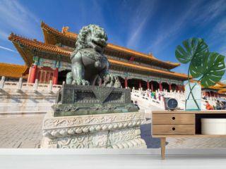 Chinese guardian lion, Forbidden City, Beijing, China