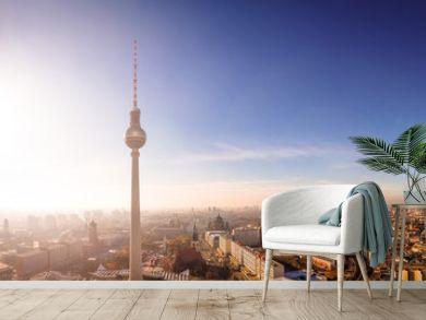 Über den Dächern von Berlin, Fernsehturm, Rotes Rathaus, Berliner Dom