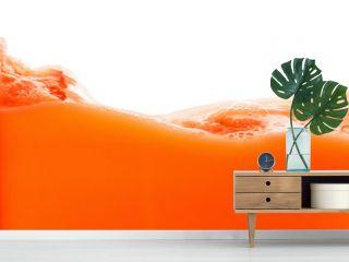 Tomato juice splash isolated on white background